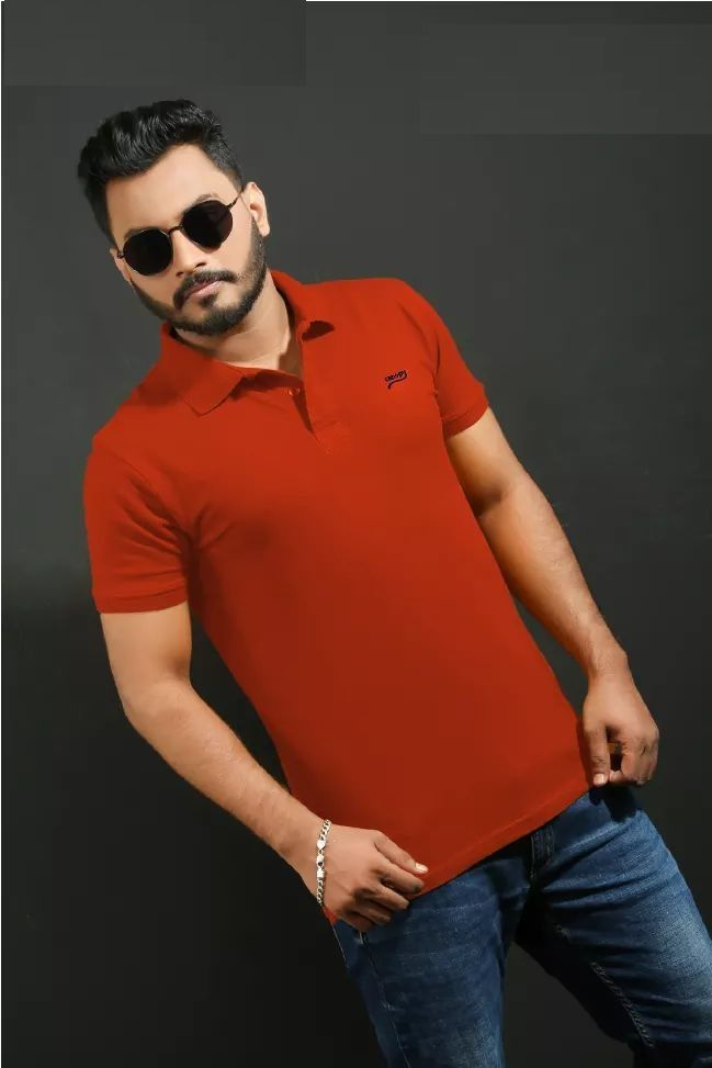 Cotton Polo T-Shirt-001-LMB